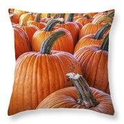 Pumpkins Galore - Autumn - Halloween Throw Pillow