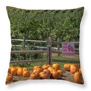 Pumpkins On The Farm Throw Pillow