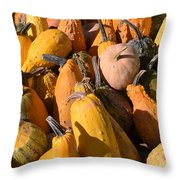 Pumpkins Up Close Throw Pillow
