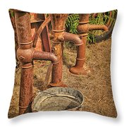 Pumps Gone Dry Throw Pillow