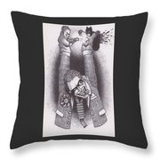 Punch And Judy Throw Pillow
