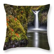 Punch Bowl Falls Throw Pillow