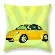 Punch Buggy Throw Pillow by Bob Orsillo