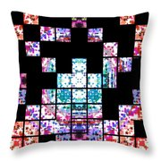 Punch Out Colors Throw Pillow