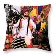 Punjabi Dhol Throw Pillow