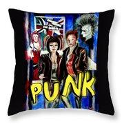 Punk Style Throw Pillow