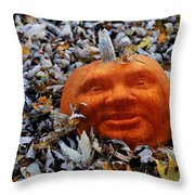 Punkin' Hed Throw Pillow