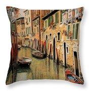 Punte Rosse A Venezia Throw Pillow