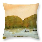 Punting On The Cam Throw Pillow