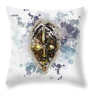 Punu Prosperity Mask Throw Pillow
