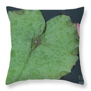 Puple Lily And Pad With Raindrops Throw Pillow