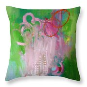 Puppet On A String Throw Pillow