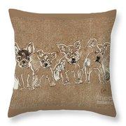 Puppy Brigade Throw Pillow