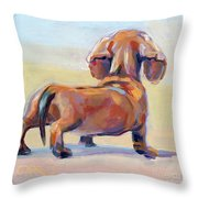 Puppy Butt Throw Pillow