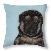 Puppy - German Shepherd Throw Pillow