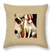 Puppy Love 2 Throw Pillow