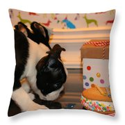Puppy Party Throw Pillow