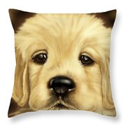 Puppy Throw Pillow by Veronica Minozzi