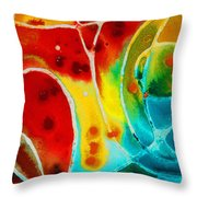 Pure Joy 1 - Abstract Art By Sharon Cummings Throw Pillow