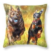 Pure Joy Throw Pillow by David Stribbling