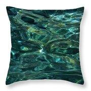 Pure Santorini Island Ocean Water Throw Pillow
