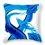 Pure Water 302 - Blue Abstract Art By Sharon Cummings Throw Pillow