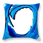Pure Water 312 - Blue Abstract Art By Sharon Cummings Throw Pillow