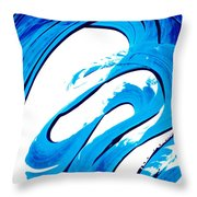 Pure Water 315 - Blue Abstract Art By Sharon Cummings Throw Pillow