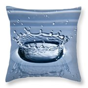 Pure Water Splash Throw Pillow by Anthony Sacco