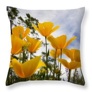 Purely Poppies  Throw Pillow