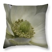 Pureness In White Throw Pillow