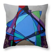 Purim Feast Of Lots Throw Pillow by Marlene Burns
