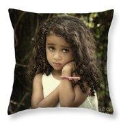 Purity Of Sadness Throw Pillow