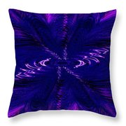 Purl In Purple Throw Pillow