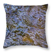 Purl Of A Brook Throw Pillow
