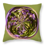 Purpble Wildflower Orb Throw Pillow