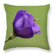 Purple 4 Throw Pillow