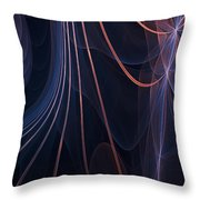 Purple Ablaze Throw Pillow