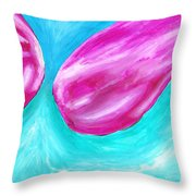 Purple Abstract Throw Pillow by Jera Sky