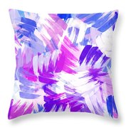 Purple Abstract Paint Pattern Throw Pillow