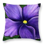 Purple African Violet Throw Pillow