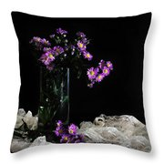 Purple And Lace Throw Pillow