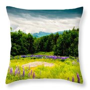 Purple And Mountains And Majesty Throw Pillow