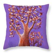 Purple And Orange Throw Pillow