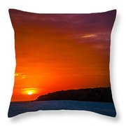 Purple And Orange Sunset Throw Pillow