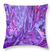 Purple And Pink Abstract Throw Pillow
