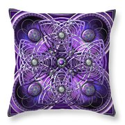 Purple And Silver Celtic Cross Throw Pillow