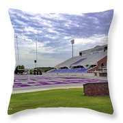 Purple And Silver Throw Pillow
