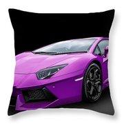 Purple Aventador Throw Pillow