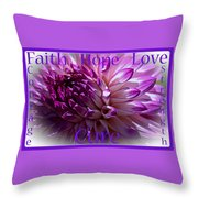 Purple Awareness Support Throw Pillow